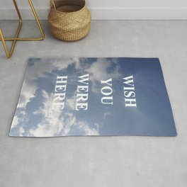 Wish You Were Here Quote Rug