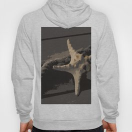 Starfish and boat rope on the pier - dark background - #Society6 - #buyart Hoody