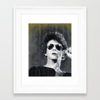 lou reed Framed Art Prints featuring Lou Reed by Vikki Sin