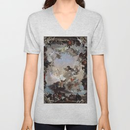 Giovanni Battista Tiepolo - Allegory of the Planets and Continents 1752 Unisex V-Neck