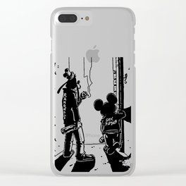 Dismaland Banksy Punk Clear iPhone Case