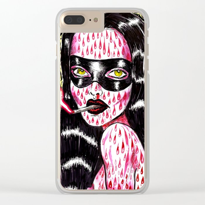 Spidergirl Clear iPhone Case