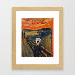 The Screm - cockatiel Munch Framed Art Print