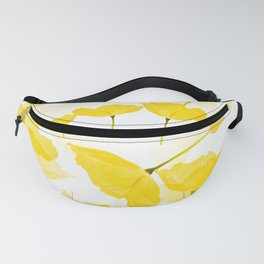 Light Yellow Poppies Spring Summer Mood #decor #society6 #buyart Fanny Pack