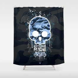 Extreme ride Shower Curtain