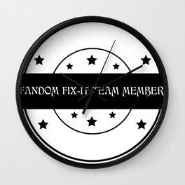Fandom Fix-It Team Member Wall Clock