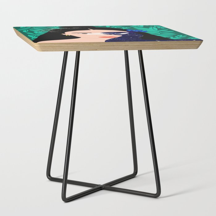 The_Peacock_Girl_Side_Table_by_CAcleste_Wallaert__Black__Square