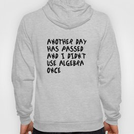 Another Day Has Passed I Didn't Use Algebra Hoody