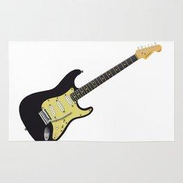 Black Electric Guitar Rug