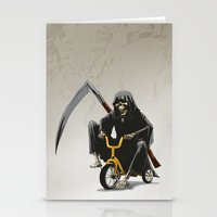 death Stationery Cards featuring Death by Antracit