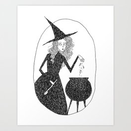 Kitchen Witch Art Print
