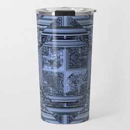 looking for something (black and gray) Travel Mug