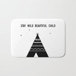 Stay Wild Beautiful Child Bath Mat