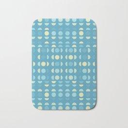 Shades Of Blue On Blue Bath Mat