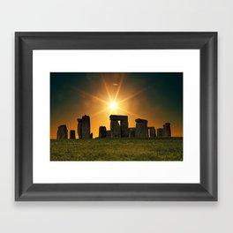 Stonehenge Sunset Framed Art Print