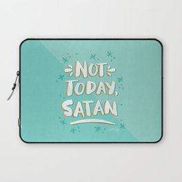 Not Today, Satan – Mint & Gold Palette Laptop Sleeve