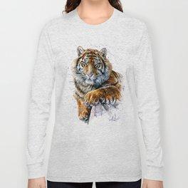 Tiger watercolor Long Sleeve T-shirt