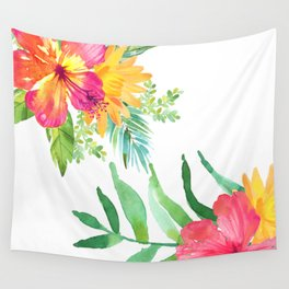 Vintage flowers in color Wall Tapestry