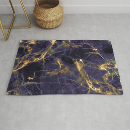 Majesty Purple Marble With 24-Karat Gold Hue Veins Rug