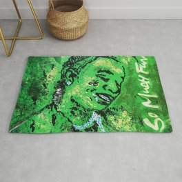thug,so much fun,album art,cover,green,music,hiphop,rap,decor,wall art,gangsta,cool,dope,poster Rug