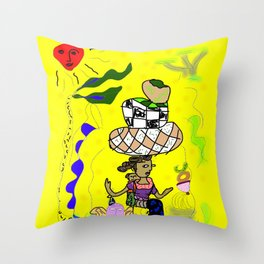 Earth Mother Throw Pillow
