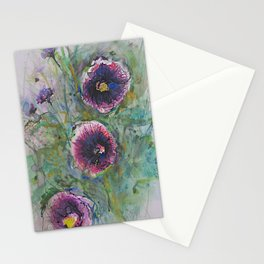 """""""Hollyhock Blossoms"""" Stationery Cards"""
