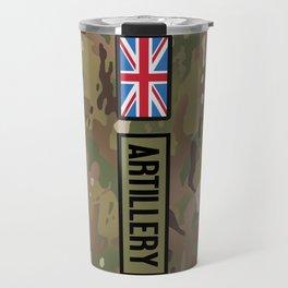 British Flag: Artillery (Camo) Travel Mug
