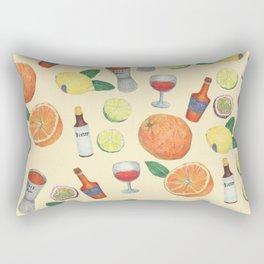 cocktail recipe pattern _ zombie Rectangular Pillow