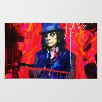 dale cooper Area & Throw Rugs featuring Alice Cooper by manish mansinh