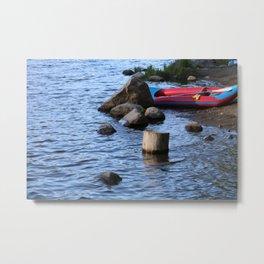 A Break by the Lake (Color) Metal Print