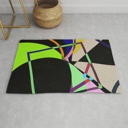 Retro Pastel X - Abstract, geometric, scandinavian pattern artwork Rug