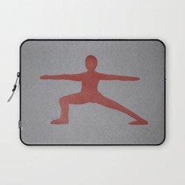 Screenprinted Yoga Art: Warrior - Wild Veda Laptop Sleeve