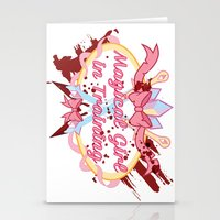 magical girl Stationery Cards featuring Magical Girl In Training by CassidyStone