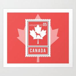 CANADA WEIM STAMP Art Print