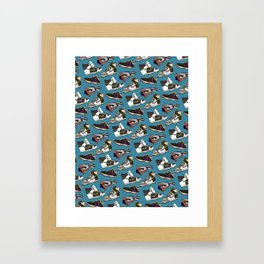 nike dunk wrapping paper Framed Art Print
