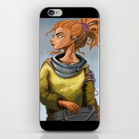 leah flores iPhone & iPod Skins featuring Leah by Khlö