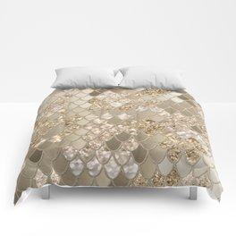 Mermaid Glitter Scales #5 (Faux Glitter) #shiny #decor #art #society6 Comforters