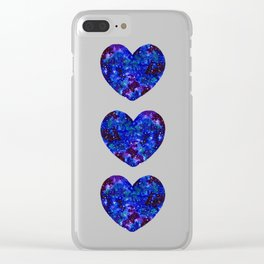 Three Space Hearts Clear iPhone Case