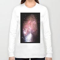 fireworks Long Sleeve T-shirts featuring Fireworks by Helena Jade