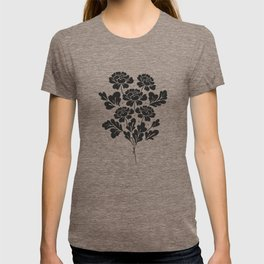 Black roses bouquet T-shirt