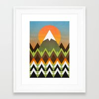 camp Framed Art Prints featuring Camp by Elisabeth Fredriksson