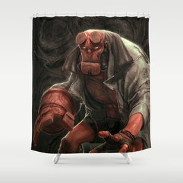 Hell boy Shower Curtain