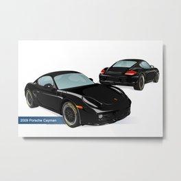 2009 Porsche Cayman Metal Print