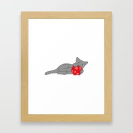 Critical Kitty Framed Art Print