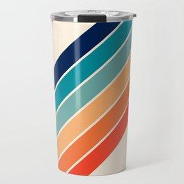 Karanda - 70s Style Classic Retro Stripes Travel Mug