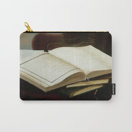 Books, acrylic on canvas Carry-All Pouch