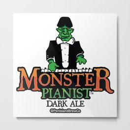Monster Pianist Dark Ale Metal Print