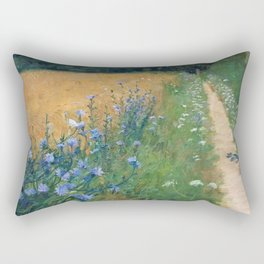 Early Morning, Tuscany, Italy floral landscape painting by Agnes Slott-Møller Rectangular Pillow