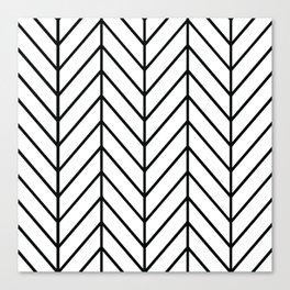 Herringbone White Canvas Print