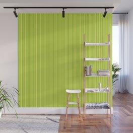 Lime Green Pinstripe Wall Mural